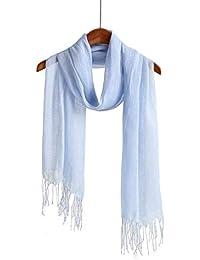 d71d0b7b3 Lightweight Summer Scarf Shawl Wrap Linen Feel Scarves For Men And Women