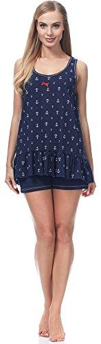Italian Fashion IF Pijama para mujer Adora 0224 Navy