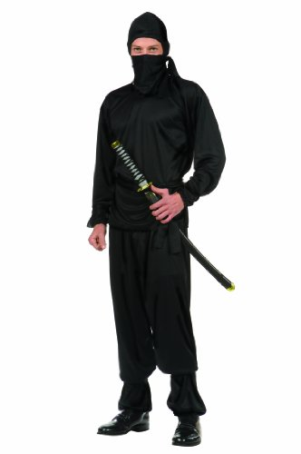 Black Ninja Costume For Men (RG Costumes Classic Ninja, Black, One Size)