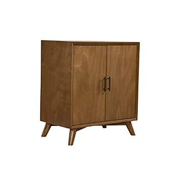 VeroniQ Trends - Acorn Finish Bar Cabinet Unit in Mid Century Style
