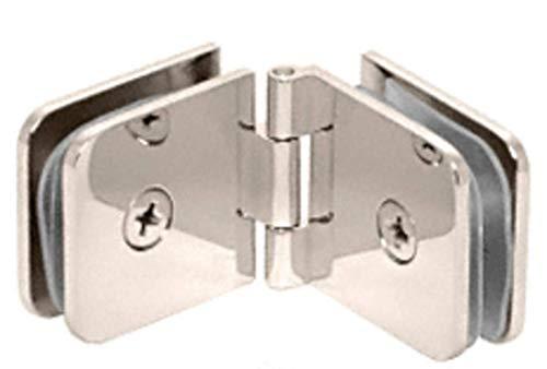 C.R. LAURENCE ADJ180PN CRL Polished Nickel Adjustable Glass-to-Glass Clamp