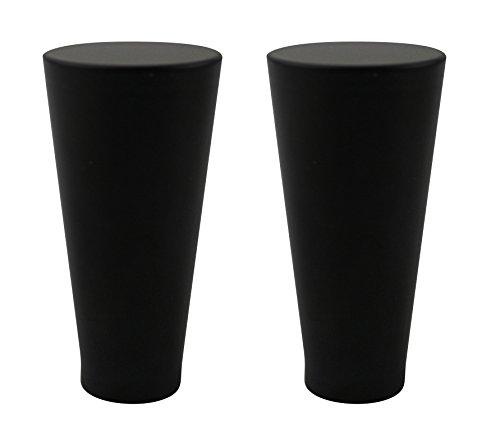 Modern Finial - Urbanest Set of 2 Zario Lamp Finial, 2-inch Tall, Black