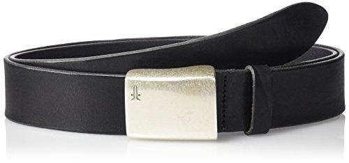 Frye Men's Signature Washed Leather Plaque Belt, Washed Leather, 32 -