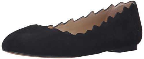 Edelman Gamuzablack Francis Sam Ballet Negro Suede Flat Mujer d18x7A