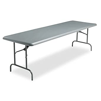 Attrayant Iceberg Indestruc Table Too 1200 Series 96u0026quot; Rectangular Folding Table  Finish: Charcoal
