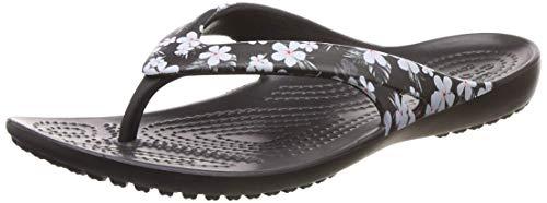 Crocs Women's Kadee2seaflpw Flip-Flop, Tropical Floral/Black, 8 M US