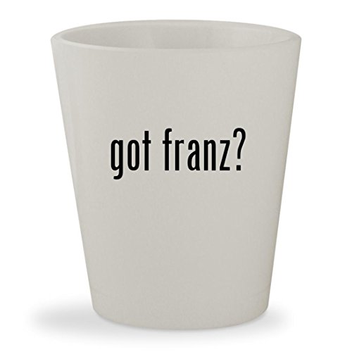 got franz? - White Ceramic 1.5oz Shot - Franz Mykita