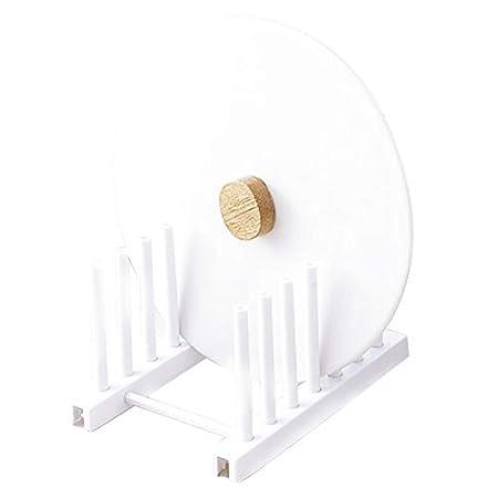 Escurreplatos desmontable con soporte para cubiertos Escurreplatos de pl/ástico estante de drenaje para viajes cesta de almacenamiento de cocina color gris o blanco blanco