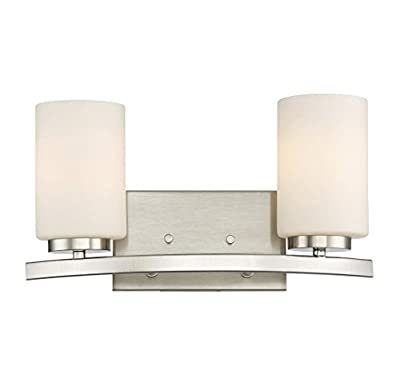 Trade Winds Lighting TW021559BN 2-Light Bath Bar in Brushed Nickel