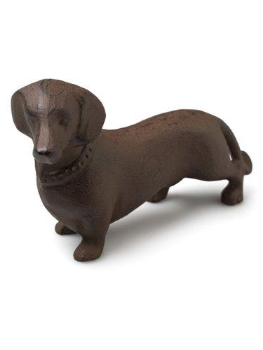 Metal Cast Iron Brown Dachshund Dog Garden Figurine Statue ()
