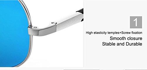con polarizadas polarizadas 100 polarizadas Plateado Gafas espejo sol efecto piloto protección de gafas de sol espejo de aviador de UV400 sol polarizadas Gafas Gafas Negro de aviador wCSIRR