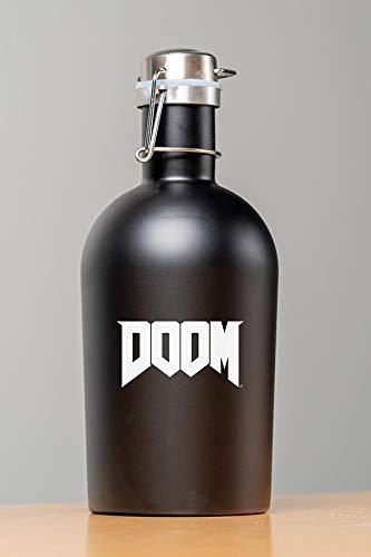 Official Doom Stainless Steel 64oz Growler (Black)