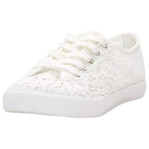David's Bridal Lace Crochet Sneakers Style Carrson, White, 7