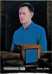 Warehouse 13 Season 3 Costume Relic Card Steve Jinx in The 40th Floor #004 -  Rittenhouse Archives