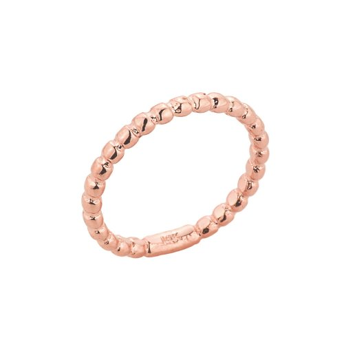 Stacking Fine 14k Rose Gold Sizable Beaded Toe Ring, Size 7 by More Toe Rings