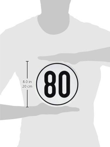 Geschwindigkeitsschild 80 km//h