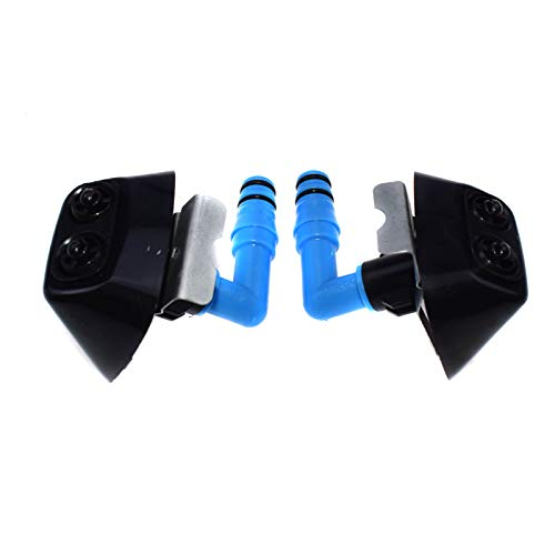 Left & Right Headlight Washer Jet Nozzle For Saab 9-3 2004-12 12803972 12803973 ()
