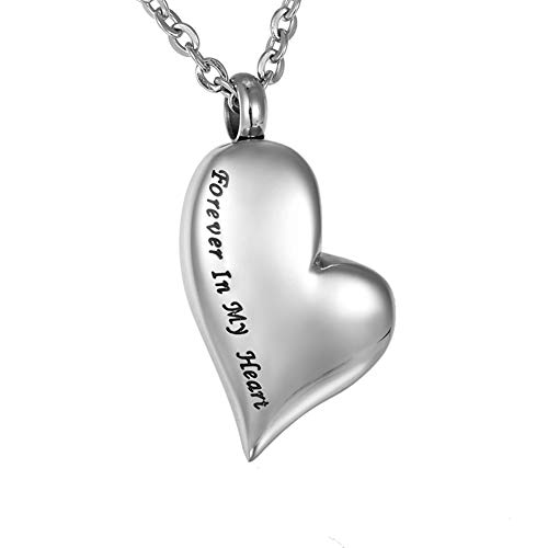 HooAMI Forever in My Heart Cremation Urn Necklace ()