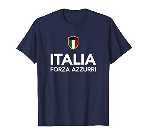 Italia Italian Soccer Football T-Shirt Forza - Soccer T-shirt Italia