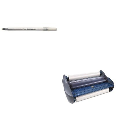 KITBICGSM11BKGBC1701720EZ - Value Kit - GBC Pinnacle 27 EZload Roll Laminator (GBC1701720EZ) and BIC Round Stic Ballpoint Stick Pen (BICGSM11BK) (Laminator Mounting)