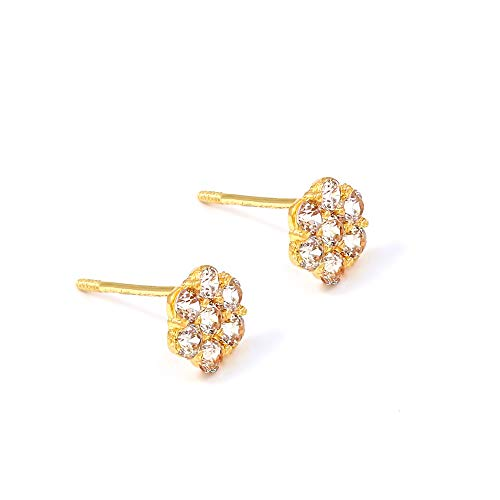 28fd029e4 Balluccitoosi 14k Gold Tiny Stud Earrings for Women & Girls - Real  Hypoallergenic, Small &