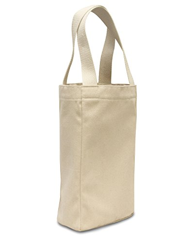 - Liberty Bags Double Bottle Wine Tote (Natural) (One)