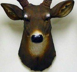 8 Point Buck Deer Head Bust Wall Hanging>