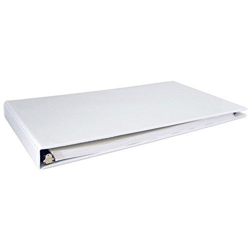 (Ruby Paulina 515980 11x17 1-Inch Angle-D Ring Vinyl View Binder - White)