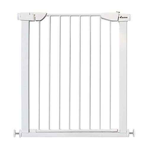 75-82CM Baby Gates Extra Tall Baby Gates for Stairs Doorway, Metal Self Closing Dog Gate for Pet, Wide Walk-thru Door, 75-152cm Width, White (Size   75-82CM)