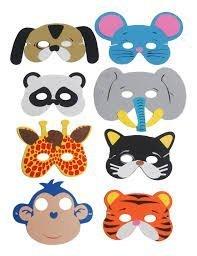 Pack of 24 Animal Foam Childrens Face Masks (máscara/careta)