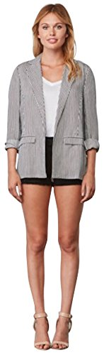 cupcakes and cashmere Women's Dove Ink Blazer Tencel Linen Blend Jacket, (Linen Blend Sweater)