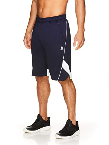 - Reebok Men's Drawstring Shorts - Athletic Running & Workout Short w/Pockets - Double Muscle Navy Blue, X-Large