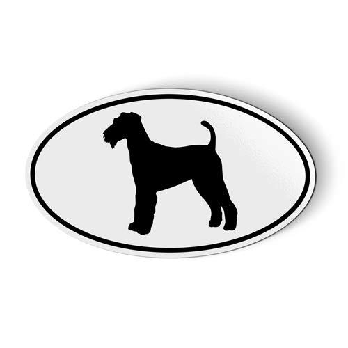 Airedale Terrier Oval - Magnet for Car Fridge Locker - 3