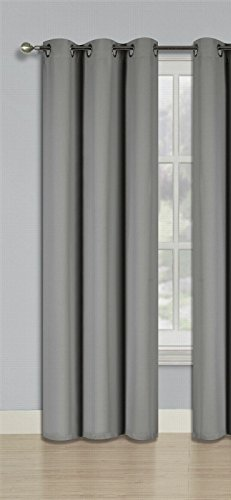 GorgeousHomeLinen (K68) 1PC Silver Grommets Window Curtain Panel Insulated UnLined Thermal 3 Layerd 99% Blackout Treatment Drape Opaque Solid Colors (63