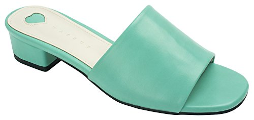 Annakastle Mujeres Colored Mule Slipper Heel Sandal Faux Leather - Hombresta