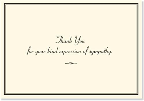 Sympathy Thank You Notes Stationery Note Cards Amazoncouk