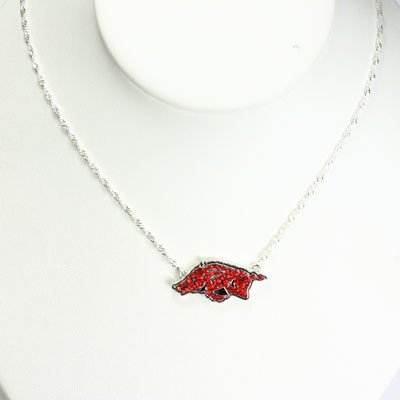 Price comparison product image Arkansas Razorbacks - NCAA Crystal Logo Necklace