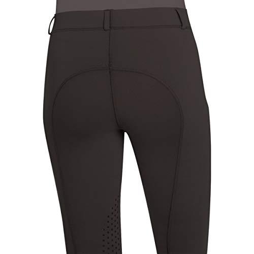 Ovation Ladies AeroWick Silicone Knee Patch Black Tights, Medium (28 Regular)