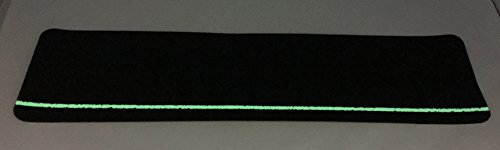 Safe Way Traction 6'' X 24'' Black Anti Slip Stair Tread Non Skid (60-Grit) Safety Tape with Glow in the Dark Stripe 10 Treads Per Pack by Safe Way Traction (Image #1)