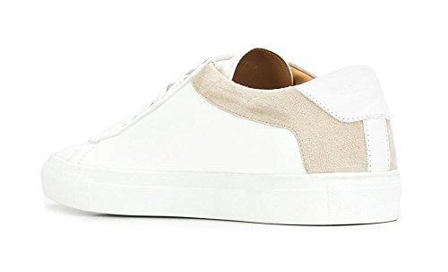 ZXD Kame - Zapatilla Skater Cuero y Ante PU Collarin Reforzado Marca Blanca Sin Logotipo Unisex Blanco