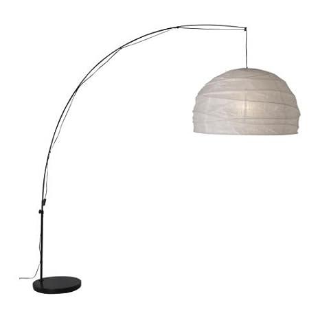 IKEA REGOLIT - Lámpara de pie, arco, blanco, negro: Amazon.es: Hogar