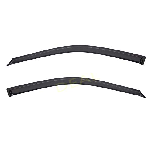 DEAL 2-piece set front door smoke vent window visor, side window deflector with outside mount tape-on type, custom fit for 1992-1995 Honda Civic 2-Door Coupe & 3-Door Hatchback Only