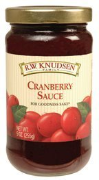 R.W. Knudsen Natural Cranberry Sauce, 9-Ounce Jars (Pack of 12) by R.W. Knudsen