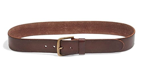 Lucky Brand - Men's - Brown Genuine Leather Studded Belt (34) by Lucky Brand