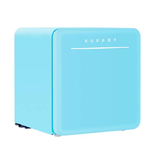 New KUPPET Classic Retro Compact Refrigerator Single Door, Mini Fridge with Freezer, Small Drink Chi...