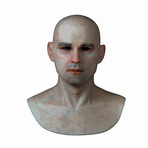 Professional Silicone Halloween Masks (CQNN-1 Handsome Young Man Realistic Silicone mask Silicone Halloween)