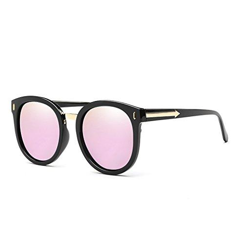 実験願望変数YUBIN サングラス女性の潮偏光ライトサングラスネット赤い眼鏡ラウンドフェイススターモデルの眼鏡抗UVサングラス (色 : C)