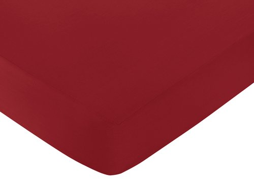 Fitted Crib Sheet for White and Red Hotel Baby/Toddler Beddi