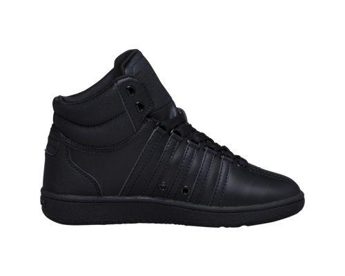 K-Swiss Classic VN Mid Sneaker (Little Kid/Big Kid), Black/Black, 1.5 M US Little Kid
