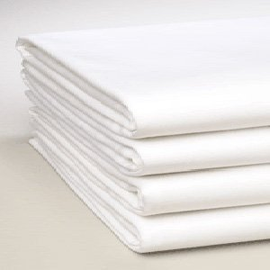 Apparel Innovations Twin Size White Flat Sheet, T-180 Size 66 x 104 (2)